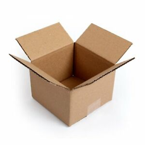 100 Pack Small Cardboard Boxes 6x6x4 Shipping Storing Gift Mailing Storing Lids