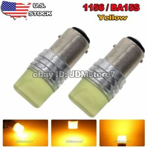 2x Rv Trailer Yellow Amber 1156 Ba15s 7503 1141 Car Turn Signal Led Light Bulbs
