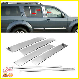 For Nissan Armada Infiniti Qx56 Chrome B pillar 6pcs Pillar Post Stainless Steel