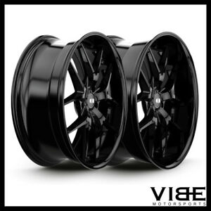 20 Xo Athens Gloss Black Lip Wheels Rims Fits Nissan Maxima