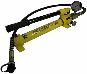 Hydraulic Hand Pump Two Speed With Pressure Gauge 10000 Psi 21 In3 B 700cb