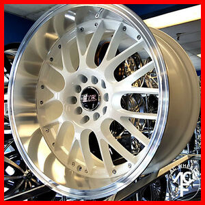 18 Str 514 Wheels Rims White Lip 5 100 30 Fit Toyota Celica Corolla Matrix Pri