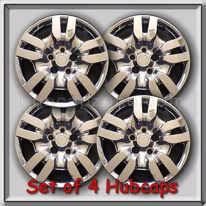 4 16 Chrome Bolt On Nissan Altima Hubcaps Fits 2010 2011 Altima Wheel Covers