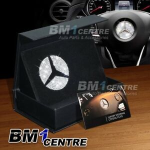 Crystal Steering Wheel Emblem Badge For Mercedes Benz C Class W205 Amg Accessory
