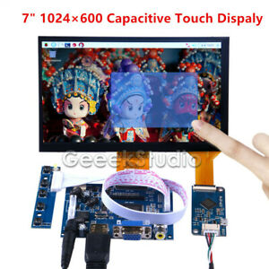 7 Inch 1024 600 Capacitive Touch Screen Lcd Display Diy Kit For Raspberry Pi