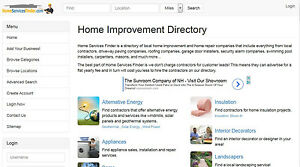 Established Home Improvement Services Directory Website Business make Money Now