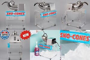 Commercial Stainless Steel Ice Shaver Fluffy Fine Snow Cone Ice Machine 120v