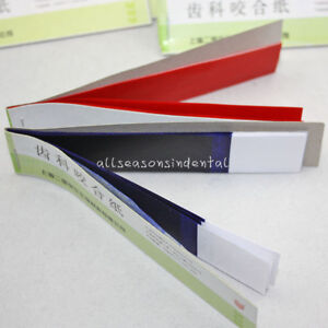 Dental Supplies Practical Articulating Soft Thin Strips Paper 20 Books Blue red
