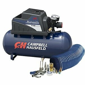 3 gallon Air Compressor 10 Piece Kit Horizontal Tank Oilless 36 Cfm 33hp 3a