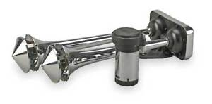 Wolo 418 Dual Trumpet Horn Air Chrome Roof Mount