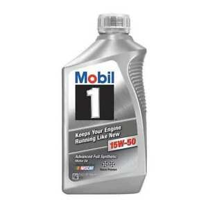 Engine Oil 15w 50 Synthetic Mobil 1 1 Qt Mobil 1 122377