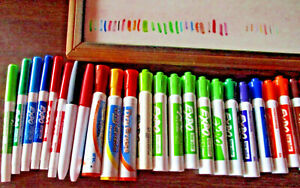 11 X 17 Handing Dry Erase Board 26 Expo Markers 7 Erase Crayons 2 Erasers
