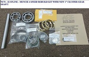New 70 Thru 74 32 Spline Muncie 4 Speed Rebuild Kit W Pin