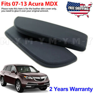 Fits 2007 2013 Acura Mdx Leather Center Console Lid Armrest Cover Skin Black
