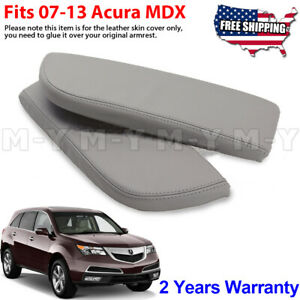 Fits 2007 2013 Acura Mdx Leather Center Console Lid Armrest Cover Taupe Gray