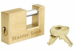 Master Lock 605dat Solid Brass Coupler Latch Lock With 3 4 Shackle Pack Of 4