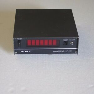 Sony Magnescale Ly 201 Digital Readout Display W Power Cable