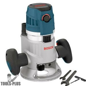 Bosch Tools Mrf23evs 2 3hp Fixed Base Router 1 2 1 4 Collets Inc Refurb