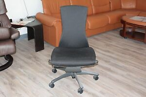 Herman Miller Embody Office Desk Chair In Black On A Graphite Base