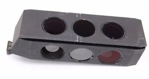 446313 Zeiss Axioline Dic Slider Polarizer Pol Red Wave Plate Compensator Axio