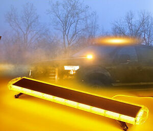 88w Led 47 Amber Light Bar Emergency Beacon Warn Tow Truck Plow Response Strobe