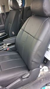 Toyota Tacoma 2005 2008 All Black Clazzio Synthetic Leather Seat Cover Kit