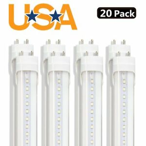 20x 4ft 20w 6000k Led Light Double Pin Fluorescent Replacement T8 Tube Lamp