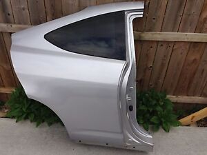 No Shipping 2005 2006 Acura Rsx Right Rh Quarter Window Panel Half Cut 05 06