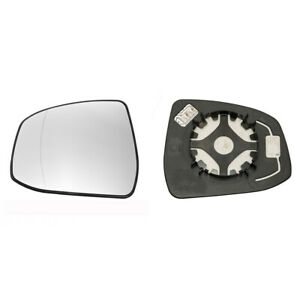 Ford Focus 2008 2017 Door Wing Mirror Glass Silver Heated Base Left Side