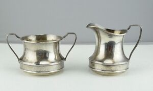 Sterling Silver R Wallace Sons Creamer And Sugar Bowl Set 1527