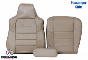 2002 2004 Ford Excursion Limited Passenger Side Complete Leather Seat Covers Tan