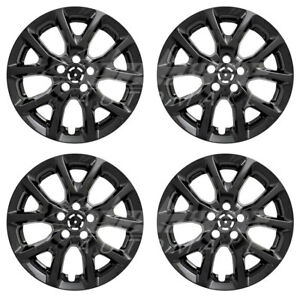 17 Black Wheel Skins Hubcaps For 2014 2015 2016 2017 2018 Jeep Cherokee X4