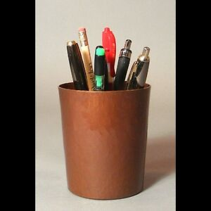 New Hand Hammered Copper Pencil Cup Free Shipping