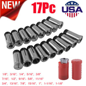 1 8 To 1 1 8 Inch By16ths 17piece 5c Collet Set For Precise Machining