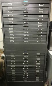 Printing Graphic Arts Solid Steel Cabinet Filing Drawer Set Of 2 By Foster