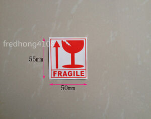 Fragile Packing Caution Self Adhesive Shipping Sticker Label For Care Handle