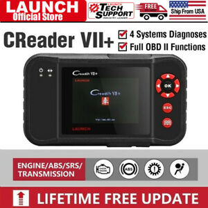 Launch Creader Vii Plus Automotive Code Reader Obd2 Scanner Tool Diagnostic Scan