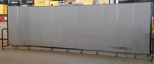 Screenflex Portable Freestanding Partition 6 Ft Height 11 Panels 20 5 Length