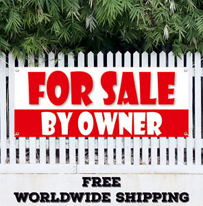 For Sale By Owner Advertising Vinyl Banner Flag Sign Many Sizes Real Estate