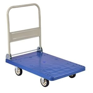 Collapsible 660lbs Dolly Platform Hand Truck W universal Wheel Direc Wheels Us