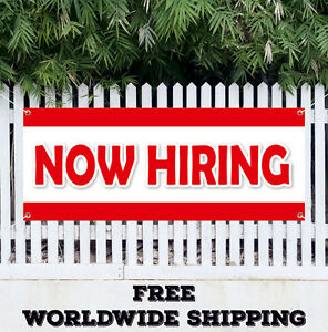 Now Hiring Advertising Vinyl Banner Flag Sign Employment Job Jobs Work