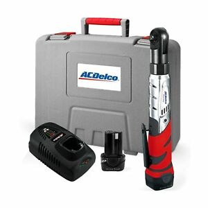Acdelco Cordless 12v Heavy Duty 3 8 Ratchet Wrench Tool Set With 2 Li Ion Bat