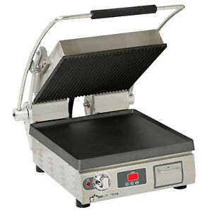 Star Pst14itgt Pro max 2 0 Sandwich Grill With Grooved Top And Smooth Bottom
