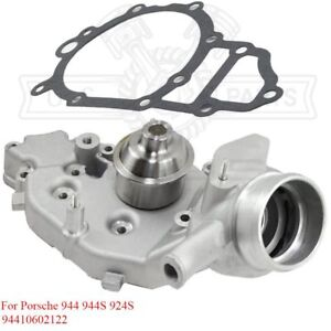 Water Pump With Gasket For Porsche 944 944s 83 88 924s 87 88 2 5l L4
