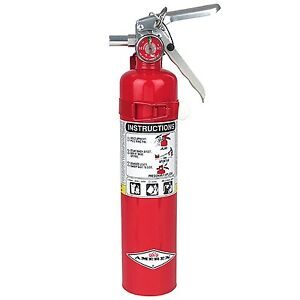 Amerex B417 2 5lb Abc Dry Chemical Class A B C Fire Extinguisher With Wall