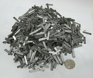 3 lbs Tiny Old Metal Type Set Printing Press Typeset Letter 100 Lot I