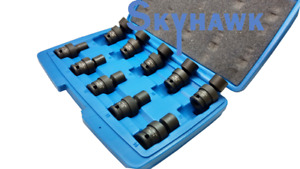 10 pc Metric 3 8 dr Universal Swivel Shallow Impact Socket Set