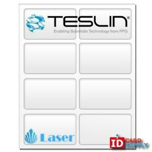 Teslin Synthetic Paper 8 5 X 11 Perforated 8 up Laser Sheet