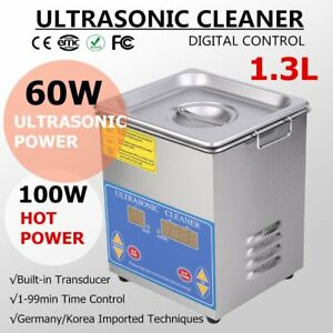 1 3l Industry Digital Ultrasonic Cleaner Heater Timer Stainless Jewel Clean Tank