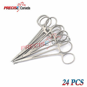 24 Mosquito Hemostat Forceps Locking Clamps 3 5 Straight Stainless Steel